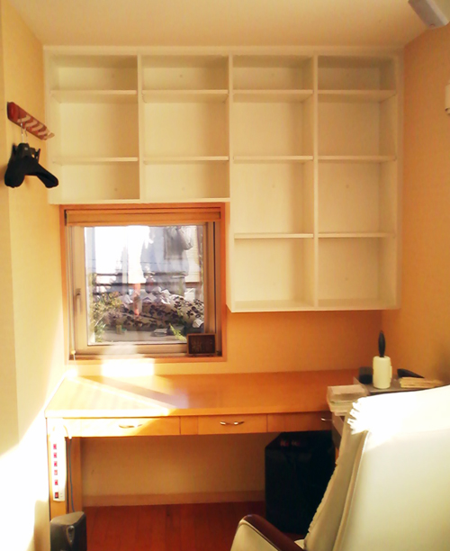 書斎の吊り戸棚 イメージ