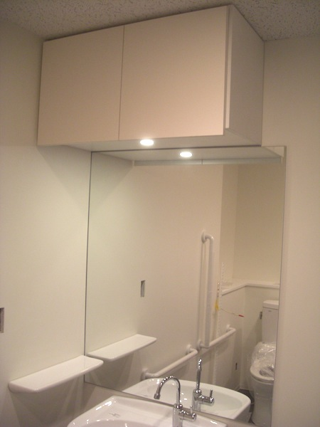 LEDライト付き吊戸棚 イメージ