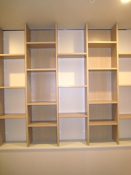白と木目のオープン棚 イメージ