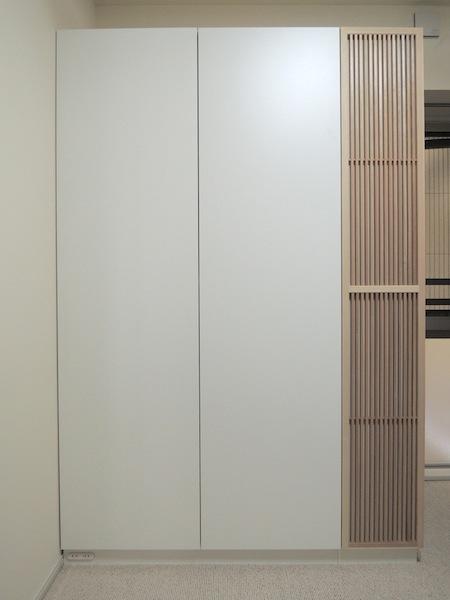 格子のアクセントパネル付き収納 イメージ