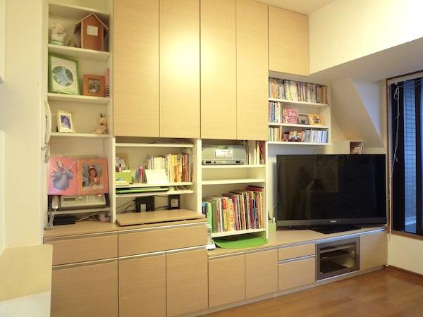リビングボードとキッチン収納 イメージ