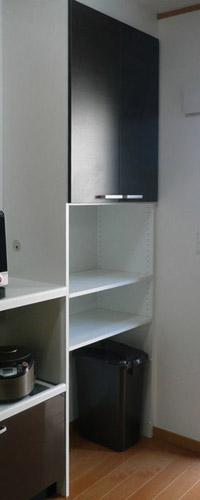 スペースを無駄なく利用した収納 イメージ